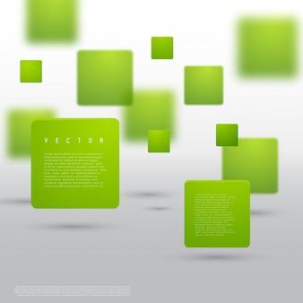 Wektor abstrakcyjna geometryczny kształt z zielonych kostek.