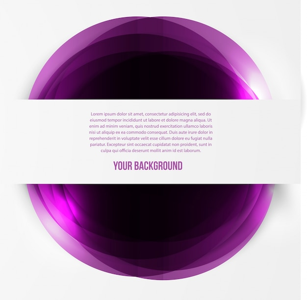 Wektor abstrakcyjna okręgi szablonu. web obiektu