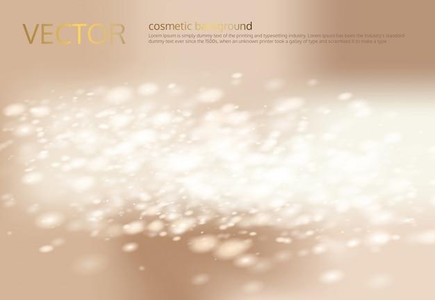 Wektor abstrakcyjna światła beżowym tle z srebrnym sparkles, cekiny.