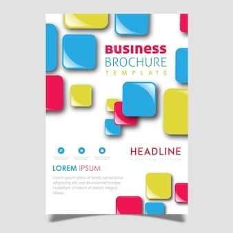 Wektor abstrakcyjny projekt broszury