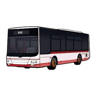 Wektor autobus transportu publicznego pojazdu