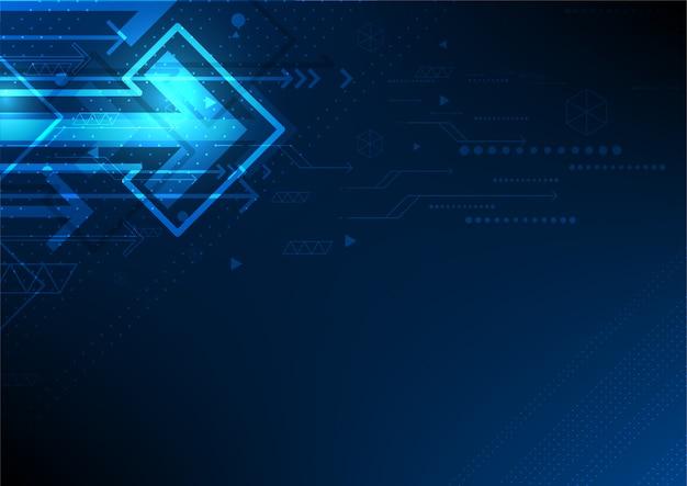 Wektor automatyzacja technologii sieci, abstrakcyjne tło strzałki w przyszłości