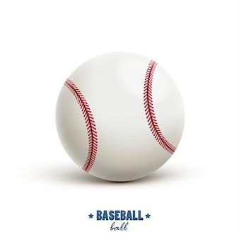 Wektor baseball realistyczny obiekt na białym