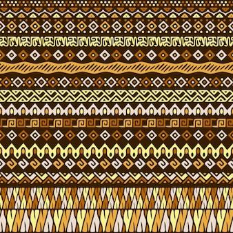 Wektor bez szwu deseń w stylu tribal