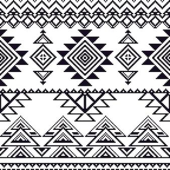 Wektor bez szwu tribal style mono wzór