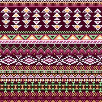Wektor bez szwu tribal style wzór