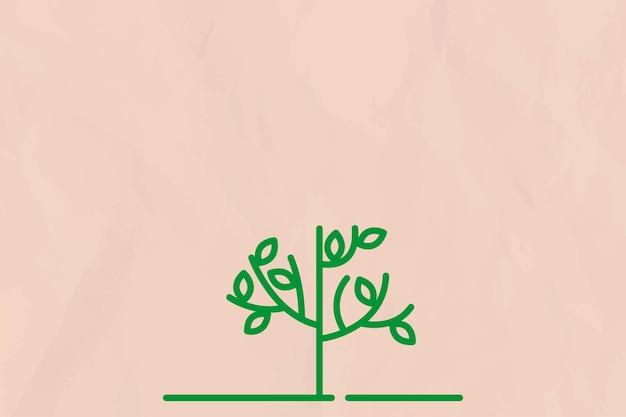 Wektor beżowy tło linii drzewa
