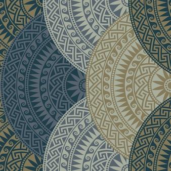 Wektor bezszwowe grecki okrągły ornament, meander