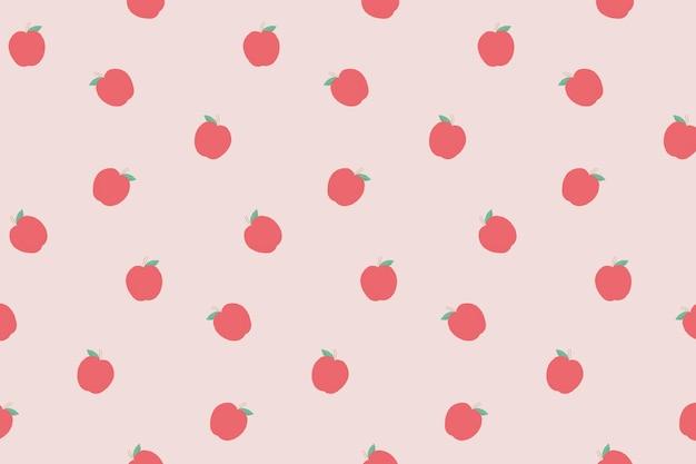 Wektor bezszwowe jabłko wzór pastelowe tło