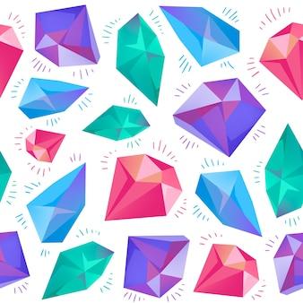 Wektor bezszwowe kolorowe hipster wzór diamentu, tło