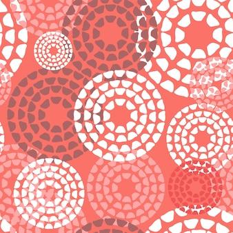 Wektor bezszwowe tło wzór w modnym kolorze 2019 z abstrakcyjnym wzorem doodle