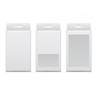 Wektor biały pakiet oprogramowania, urządzeń elektronicznych i innych produktów