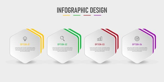 Wektor biznes infografiki szablon