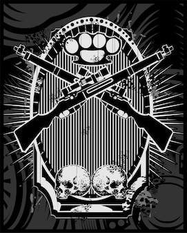 Wektor broni i czaszki