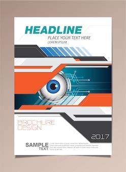 Wektor broszura projekt strony szablon oko