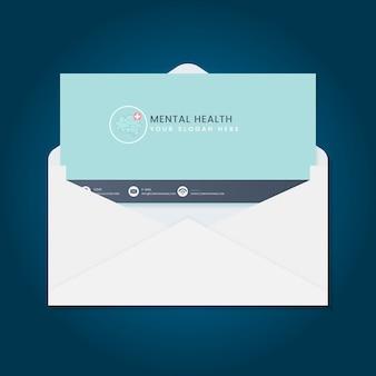 Wektor broszura reklama zdrowia psychicznego