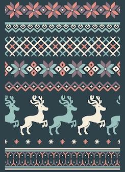 Wektor brzydki sweter bez szwu