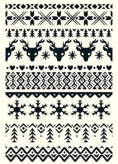 Wektor brzydki sweter bezszwowe granice