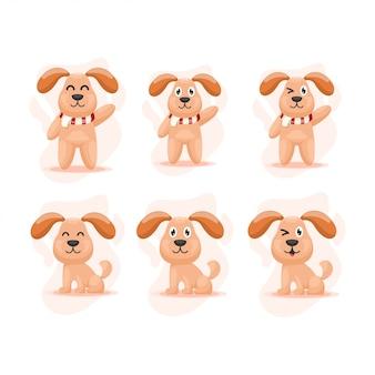 Wektor cartoon cute dog mascot
