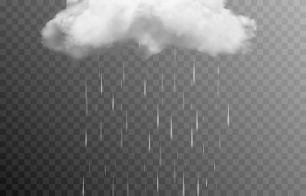Wektor chmura lub dym na izolowanym przezroczystym tle deszcz zła pogoda zasłony chmura chmura dymu mgła png