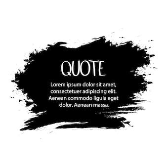 Wektor czarny pędzel na jasnym tle. ręcznie malowany element grunge. projekt plastyczny miejsca na tekst, cytaty, informacje, nazwy firm. ilustracja wektorowa