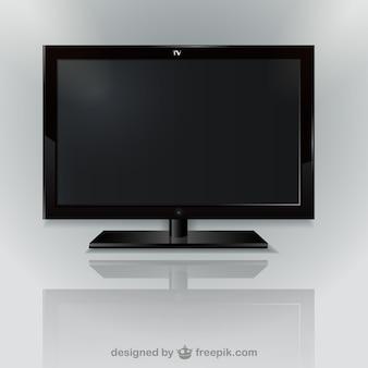 Wektor czarny telewizor