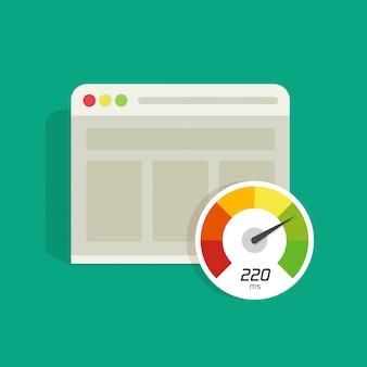 Wektor czas ładowania strony internetowej na białym tle