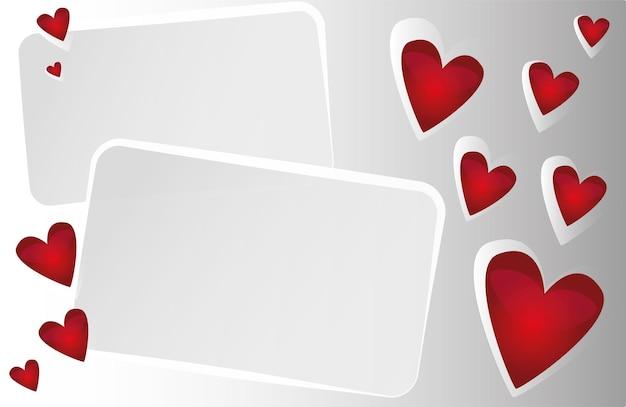 Wektor czerwone tło z sercami - na projekt walentynki