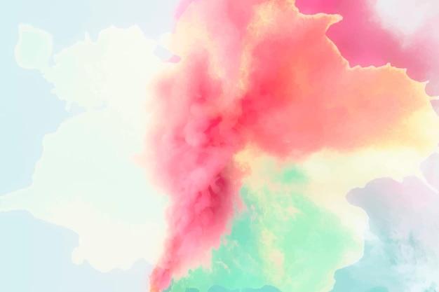 Wektor czerwony gradient efekt wybuchu dymu w tle