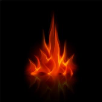 Wektor czerwony ogień płomień ognisko
