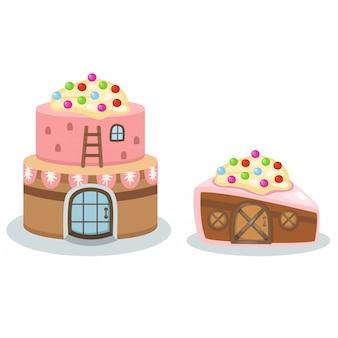 Wektor domek do ciasta