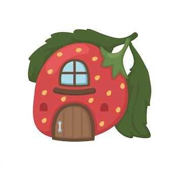 Wektor domek truskawkowy