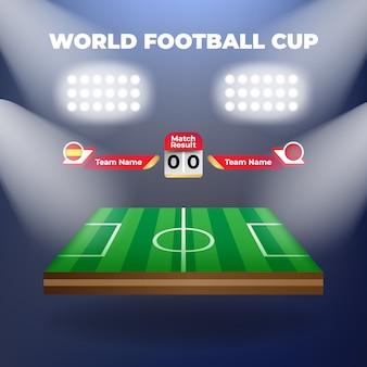 Wektor drużyna futbolowa z tablicą wyników