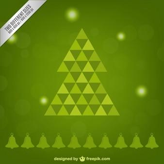 Wektor drzewo chistmas wielokąta