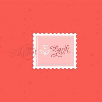 Wektor dziękuję kartkę z życzeniami