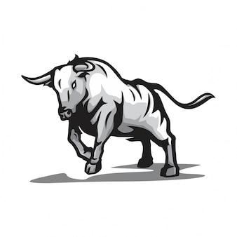 Wektor dziki byk