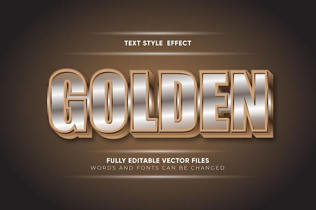 Wektor efekt stylu złotego tekstu