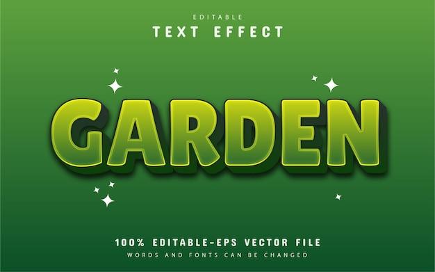 Wektor efekt tekstowy ogród