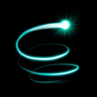 Wektor elementu smugi zielonego światła na czarnym tle