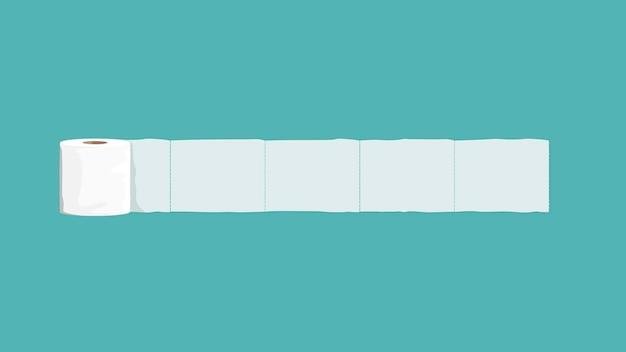 Wektor elementu transparentu papieru toaletowego