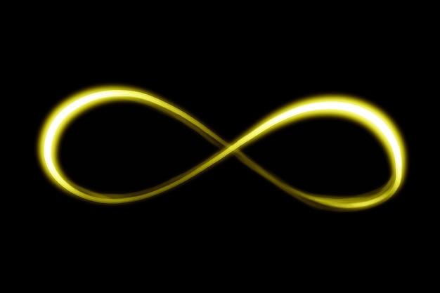 Wektor elementu żółtej smugi światła na czarnym tle
