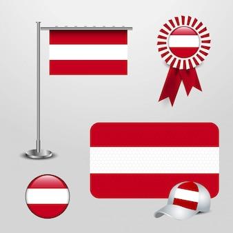 Wektor flaga austrii