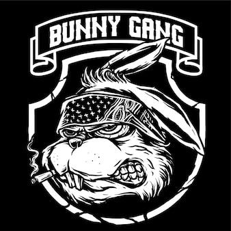 Wektor gangstera bunny