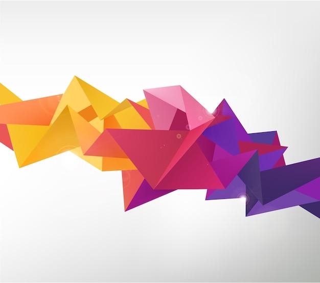 Wektor geometryczny kształt, abstrakcyjne kolorowe futurystyczne tło