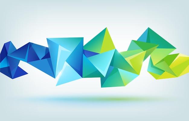 Wektor geometryczny kształt, streszczenie kolorowe futurystyczne tło, baner
