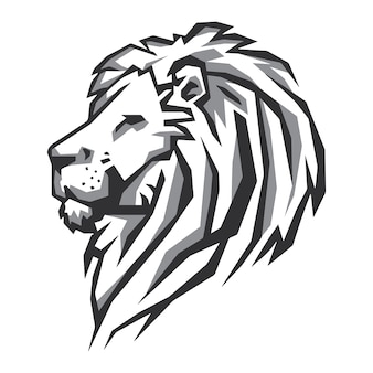 Wektor głowa lwa