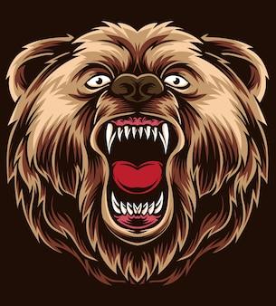 Wektor gniew niedźwiedzia