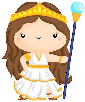 Wektor greckiej bogini hery