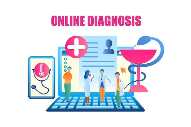 Wektor grupy lekarz omawia leczenie pacjenta