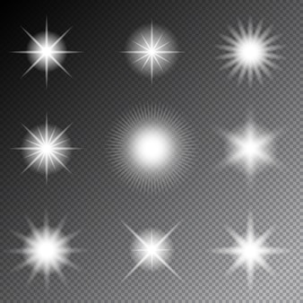 Wektor gwiazd i błyszczy